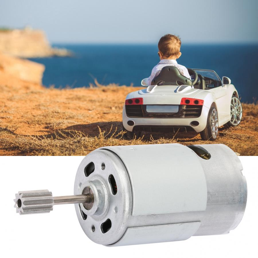 <font><b>12V</b></font> High Speed Micro Motor <font><b>RS550</b></font> Gear High Speed Brushless Motor 3mm Shaft for DIY Children Electric Car RC Ride Baby Car image