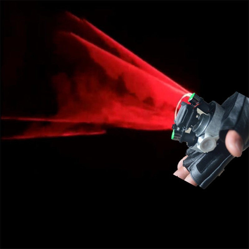 Nueva Red Swirl Laserman Show Gloves Party Rotable Laser Lights Party - Para fiestas y celebraciones - foto 1