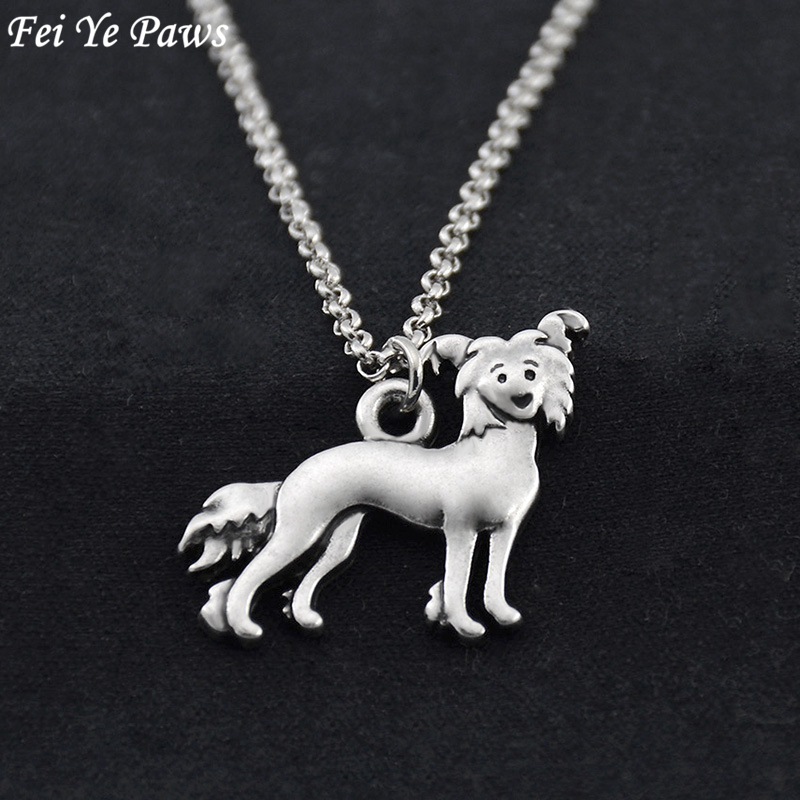 New Chinese Crested necklace womens jewellery ladies gift charm pendant chain