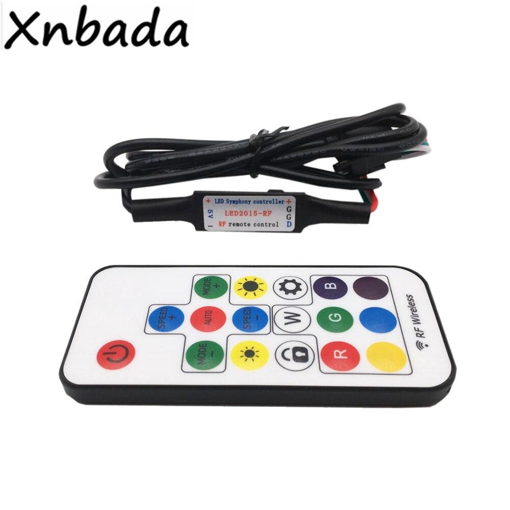 5V 17Key RGB Led Remote Controller With USB Led Wireless RF Led Controller For WS2812B SK6812 RGB Magic Color Led Strip Light