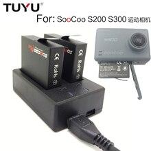 TUYU для SOOCOO на S200 S300 Зарядное устройство USB двойной зарядное устройство S200 S300 Спорт Камера двойной зарядное устройство