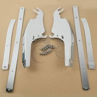 Chrome Windscreen Windshield Bracket Kits For Harley Davidson FL Softail FLST FLSTC FLSTF FLSTFB FLSTN 2000
