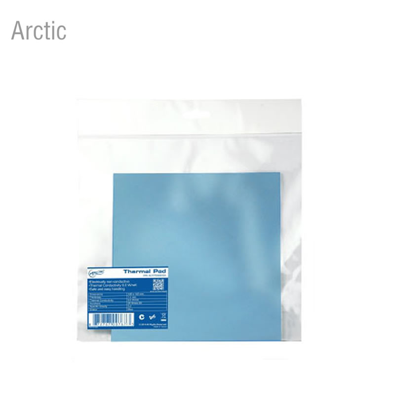 Arctic 50mmx50mmx0.5mm/1.0mm/1.5mm thermal conductivity Graphics card memory thermal pad thermal silicone gasket synthetic graphite cooling film paste 300mm 300mm 0 025mm high thermal conductivity heat sink flat cpu phone led memory router