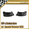Epr car styling fibra de carbono parachoques trasero polaina (large) ajuste para hyundai veloster nefd (turbo solamente)
