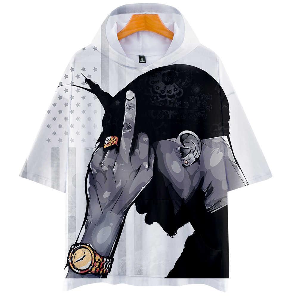 Nueva impresión 3D tupac 2pac nuevo 2019 cos caliente de manga corta con capucha camiseta unisex pareja amor padre-niño cosplay