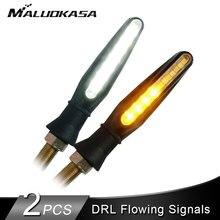 2 шт мотоциклов светодиодный поворотники свет течет вода мигающий фонарь DRL Запуск/стоп сигналы хвостовой индикатор лампа IP68 12 v