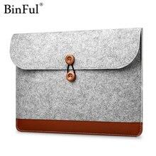 Binful Woolfelt чехол 11 12 13 15 дюймов Защитная сумка для ноутбука/рукав для Macbook Air Pro retina чехол для ноутбука Xiaomi