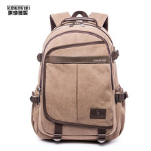 "Фотография 15.6"" Laptop Bakpack Men Luxury Washed Heavy Duty Thick Cotton Canvas Backpacks  Bagpack Travel Rucksack Male Mochila Sac A Main"