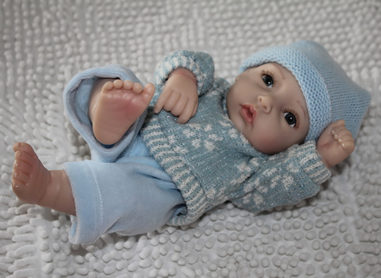 28cm Real baby doll handmade silicone reborn babies full silicon vinyl baby dolls mini boy an girl smiling toys