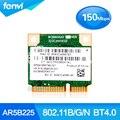 Atheros AR5B225 150Mbps Wireless-N Wifi Bluetooth BT 4.0 Half Mini PCI-E Wlan Card for HP DV6 DV7 G4 G6 G7 655795-001 654825-001