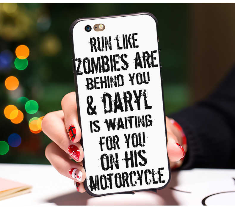 Daryl Dixon Walking Dead norman cell phone Cover case for iphone 8 8plus 7  7plus 6 6s plus X 10 5 5s phone cases