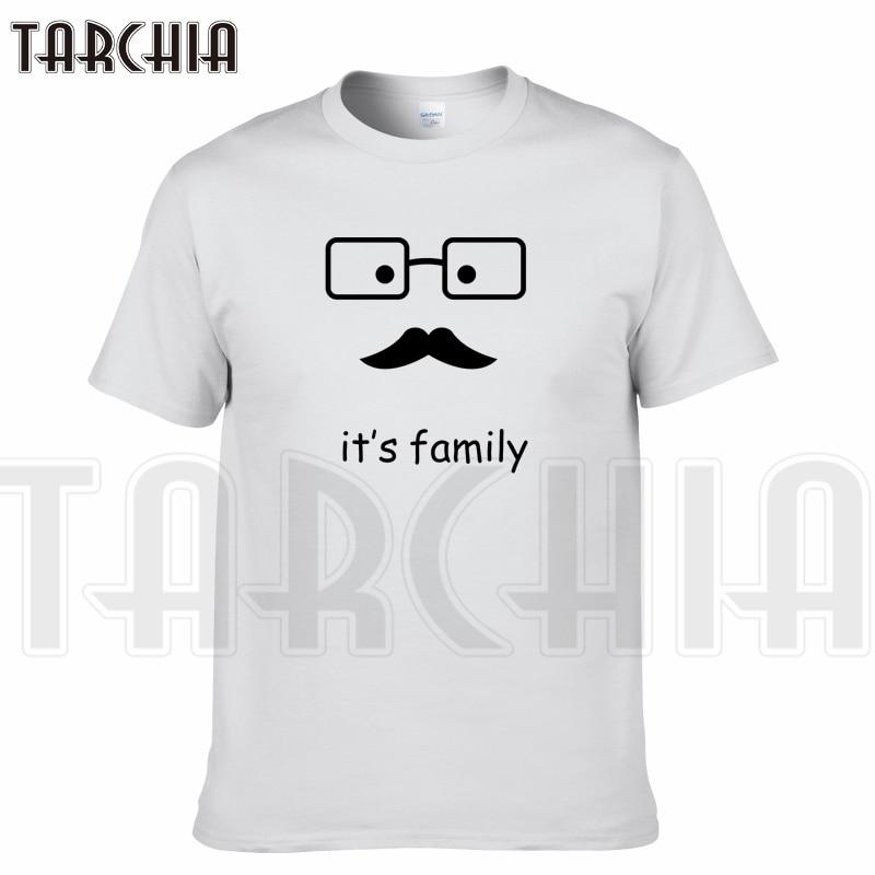 TARCHIA 2019 new summer brand t-shirt it's family cotton tops tees men short sleeve boy casual homme tshirt t plus fashion