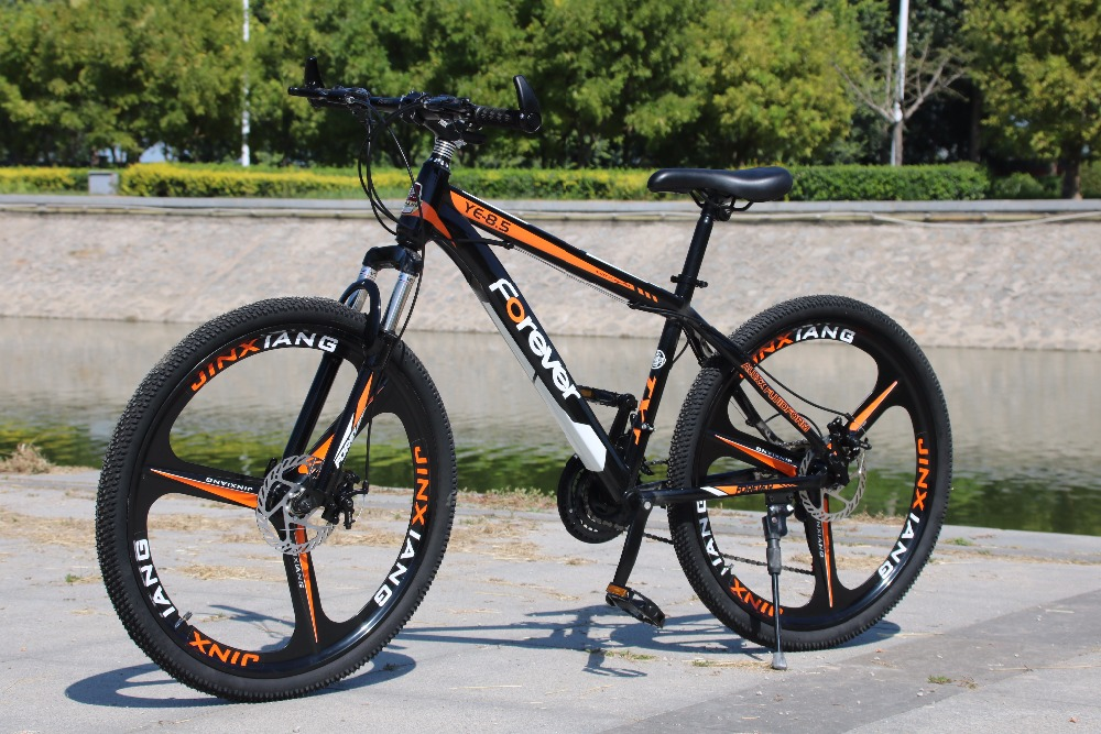 Promotion price FOREVER 21/24/27 speed mountain bike 26 inch double disc brake bike For student free shipping
