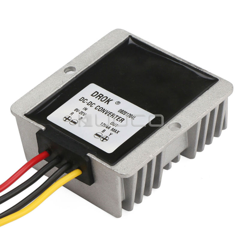 цена на Power Supply Module DC 12V(8V~20V) to 12V 4.5A 48W Auto Buck Boost Converter/Voltage Regulator/Power Adapter/Driver Module