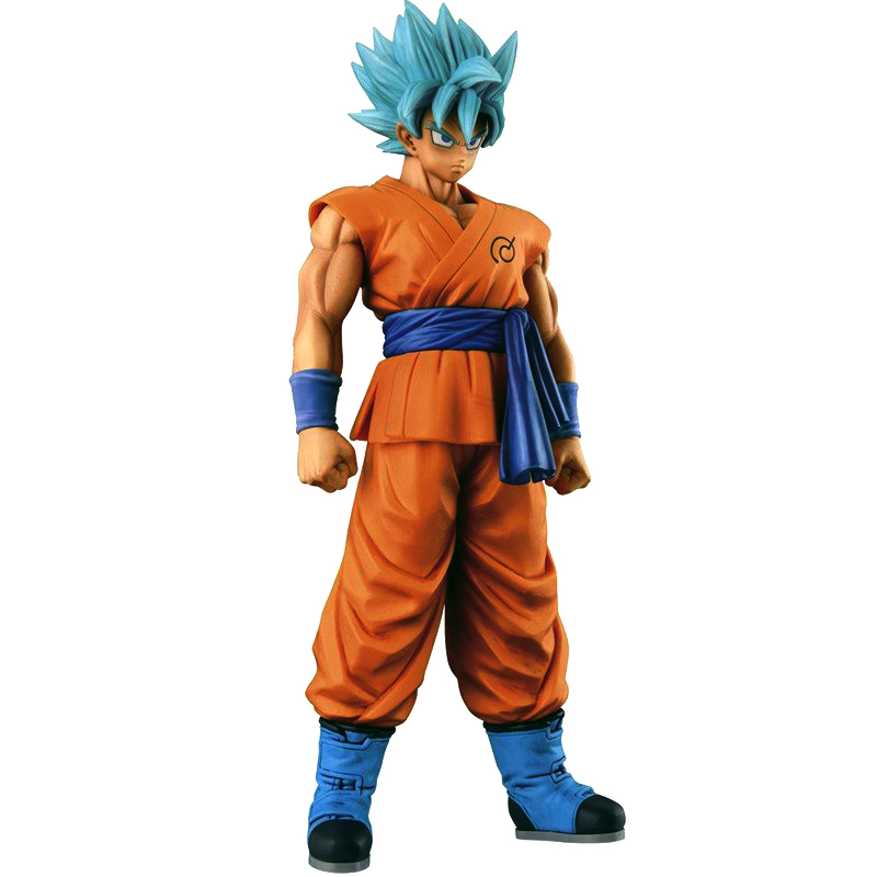 Big Anime Dragon Ball Z Action Figures PVC SaiYan blue Son Goku juguetes Anime puppets Figure Toys for children classic toys dragon ball z action figures super saiyan son goku grey color anime dbz collectible model toys 350mm dragon ball gt toy