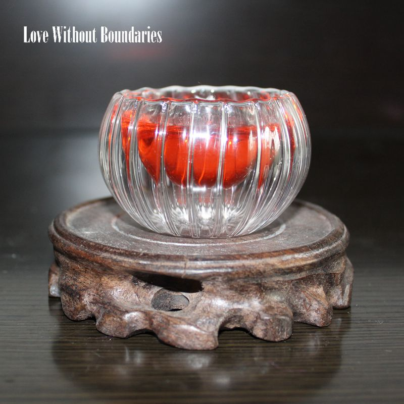 Romantik alev hediye, benzersiz rüya ateş, kristal kabak mum, - Ev Dekoru - Fotoğraf 4