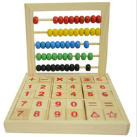 Montessori Wooden Baby Abacus Study Blocks Toys Children's educational Teaching toy Arithmetic Learning for child