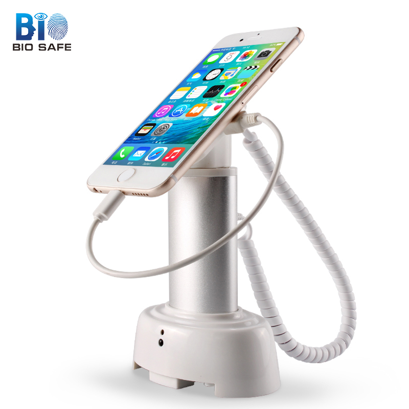 [HF Sensor & Detector] Anti Lost Alarm for Iphone 6s Plus Mobile Phone Security Safe Lock Display Stand Anti Theft Detector wholesale price mobile phone anti theft alarm display stand with charging for exhibition