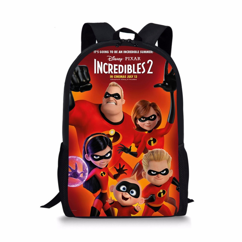 79e5aedb337 Image of Cartoon incredibles 2 School bags backpacks schoolbag satchel for  girls boys kids students child