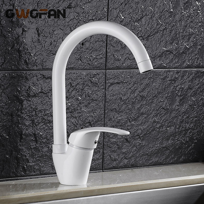 Kitchen Faucets Single Lever Faucet 360 Rotate Deck Mounted Kitchen Faucet Torneira Single Holder Single Hole Mixers N22-121