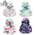 Retail 1-8 years children parkas full-sleeves printing Graffiti cartoon cute kids spring autumn fall winter