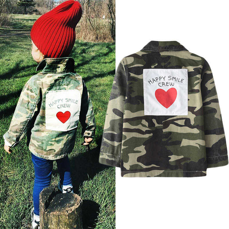 d3993e6f89dbb Spring Autumn Baby Girls Boys Jacket For Children's Windbreaker Outerwear  Fashion Camouflage Coats Army Cardigan Kids