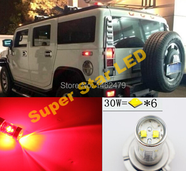Pair 3157 P27/7W T25 High Power For Cree Chips LED STOP/TAIL bulbs Brake Lights For HUMMER H2 H3