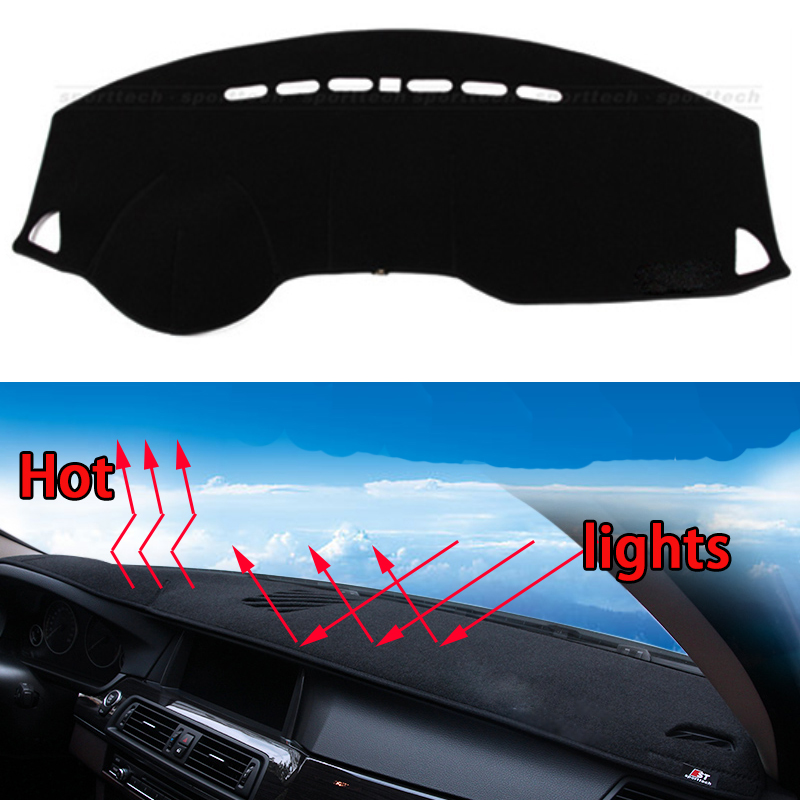 Car dashboard Avoid light pad Instrument platform desk cover Mats Carpets Auto accessories car styling for Mitsubishi ASX car dashboard avoid light pad instrument platform desk cover mats carpets auto accessories for hyundai elantra 2008 2016