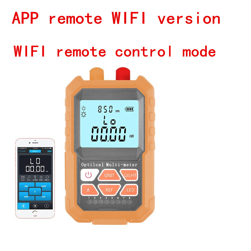 3 In1 Optical Power Meter 1mw With 5km  Visual Fault Locator Network Cable Test Optical Fiber Tester,Add APP Remote WIFI Version