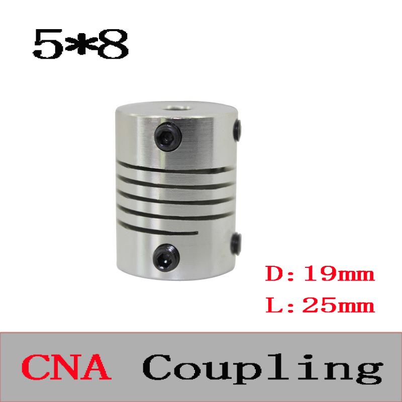 3pcs BR 5mm x 8mm D19 L25 CNC Stepper Motor Shaft Coupler Flexible Coupling 5x8mm Motor Connector 5*8mm