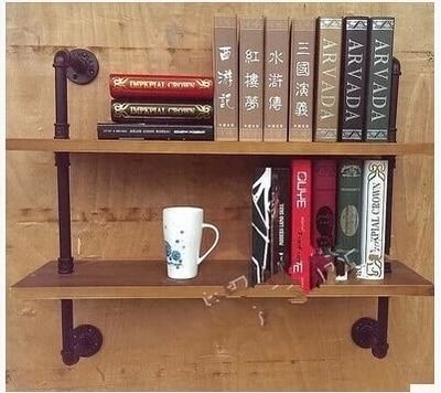 Amerikaanse ijzer boekenkast plank boekenkast hout opbergrek multi ...