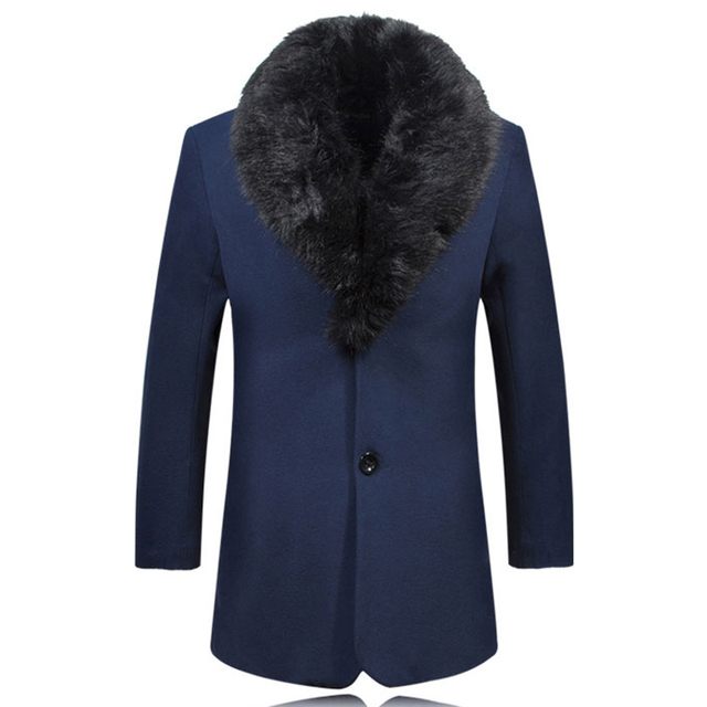 2017 Dos Homens do Inverno do Estilo Do Vintage Terno Streetwear Mens Único Breasted Cáqui S2542 Sobretudos e Casacos Mens Casacos de Cashmere