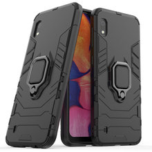 Armor Ring Case For Samsung Galaxy A10 Magnetic Car Hold Shockproof Soft Bumper Phone Cover