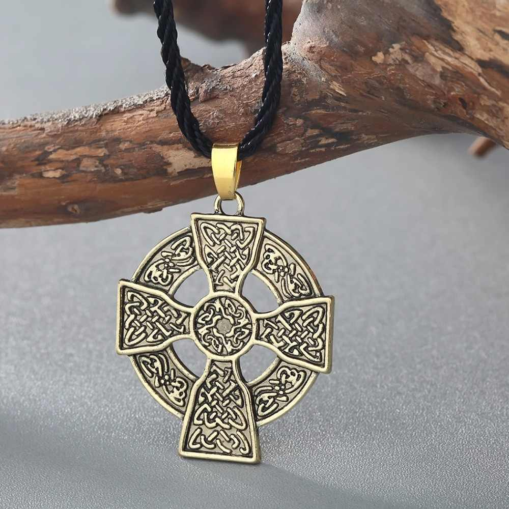 Cxwind Cổ Điển Armenia Cross Hôn Vòng Cổ Lá Bùa Năng Lượng Mặt Trời Celtics Armenia Druid Bùa Mặt Dây Chuyền Dây Chuyền Trang Sức dropshipping