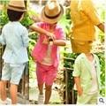 Летом Стиль Пиджаки дети Пром Костюмы Конфеты Цвет Белья Мальчик Пиджак Мальчики Свадебные Наборы Одежды На Заказ