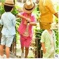 Estilo do verão Meninos Blazers crianças Prom Ternos de Linho Cor de Doces Blazer Menino Meninos Roupas Conjuntos de Casamento Custom Made