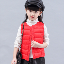 Фотография 2017 newest style cotton vest for boys&girls in autumn winter fro kids outwear to keep warm cheap free delivery parkas good gift