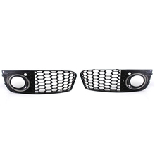 New Chrome Ring Honeycomb Front Fog Light Lamp Cover Grille For Audi A4 B8 2009-2011 Grill 8KD 807 681, 682
