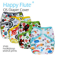 Happy Flute OS Baby Cloth Diaper Cover Nappy Without Bamboo Cotton Insert Waterproof Breathable Fit 5