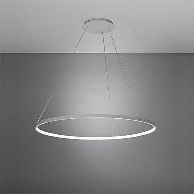 60 см Акрил круговой современные светодиодный подвесные светильники обеденный Гостиная Белый Черный висит лампы освещения дома светильник