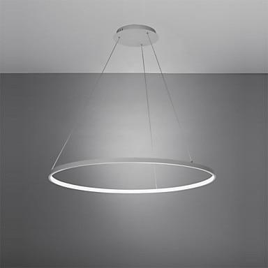 60cm Acryl Circular Modern LED Pendant Light Fixtures Dinning Living Room White Black Hanging Lamp Home Lighting Luminaire
