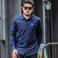 Calidad camisa azul marino xxl-7xl 2016 de manga larga hombres de la camisa de algodón de los hombres camisa camisas hombre del hombre más el tamaño 6xl 7xl 5xl 4xl 3xl xxl