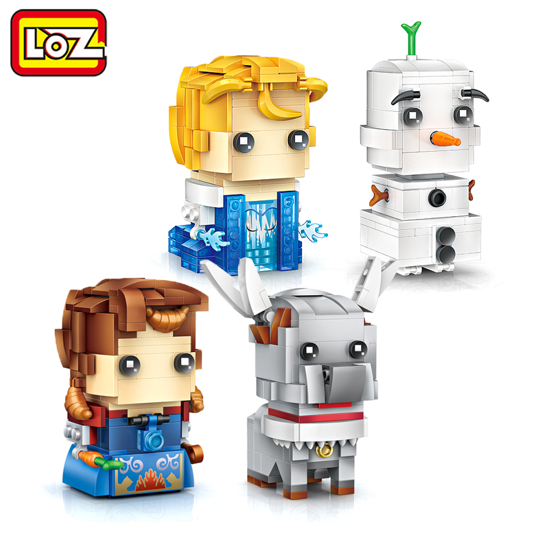 LOZ Elsa & Olaf Anna & Sven Mini Building Blocks Brick Heads Figure Toy Assemblage Toys Offical Authorized Distributer loz pirates of the caribbean jack salazar mini blocks brick heads figure toy assemblage toys offical authorized distributer