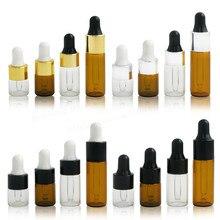 10 x 1ml 2ml 3ml 5ml Mini Empty Dropper Bottle Portable Aromatherapy Esstenial Oil with Glass Eye