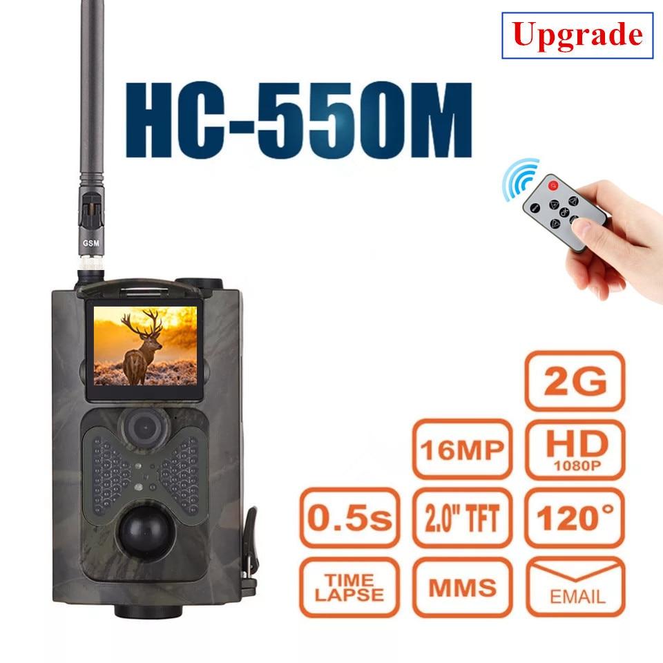 Caméra de chasse HC550M HD 16MP MMS SMS GPRS caméra sauvage extérieure Trail Photo pièges numérique sans fil chasseur contrôle piège jeu Cam
