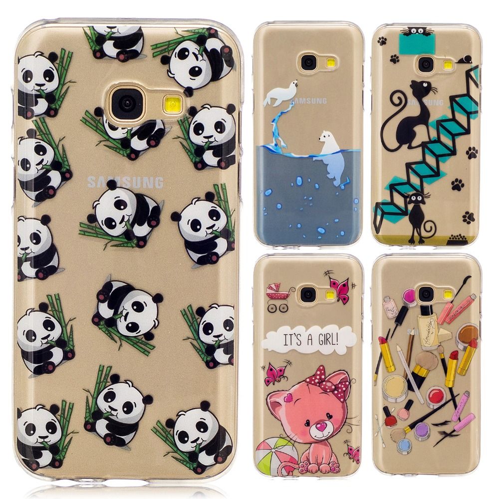 Pu leather case for samsung galaxy a7 2016 a710 peacock feather - Icecream Panda Pineapple Feather Seal Lipstick Girl Painted Tpu Soft Cover Case For Samsung Galaxy A3