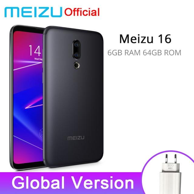 Global Version Meizu 16 6GB 64GB Snapdragon 710 Octa Core Mobile Phone 6.0'' 2160x1080P Front 20MP 3100mAh In-Screen Fingerprint