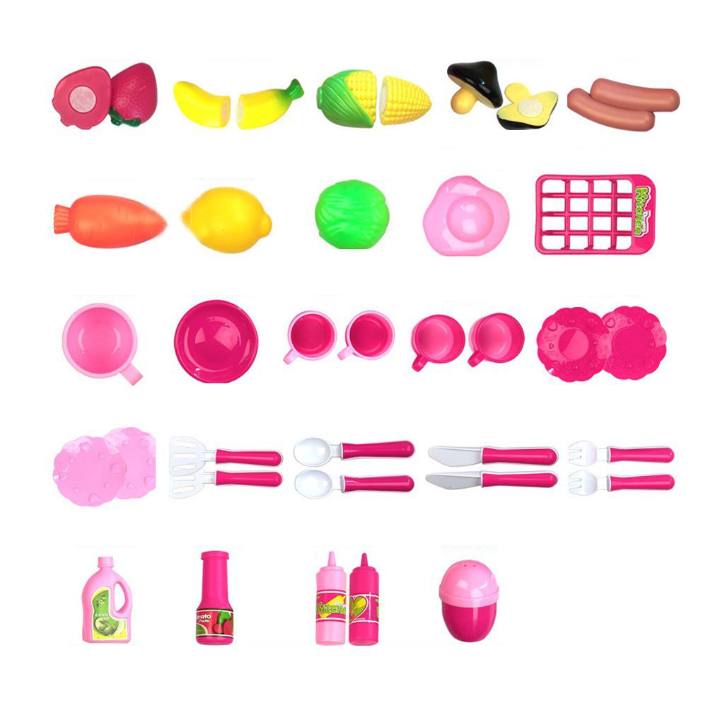 40 шт./компл. Кухня Еда Пособия по кулинарии ролевая игра притворяться игрушка Обувь для девочек ребенка