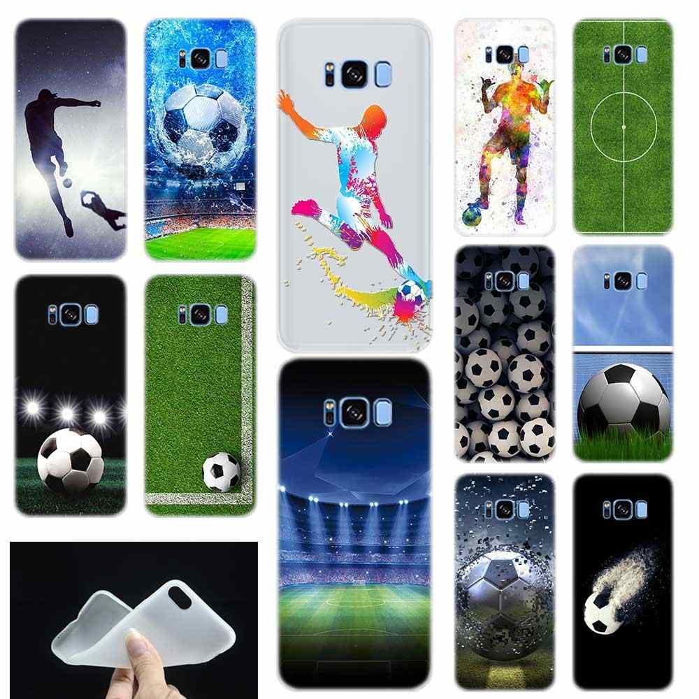 כדורגל כדורגל כדור דפוס רך TPU טלפון Case כיסוי עבור סמסונג גלקסי S6 S7 קצה S8 S9 S10 S11 בתוספת E הערה 8 9 10 בתוספת Etui