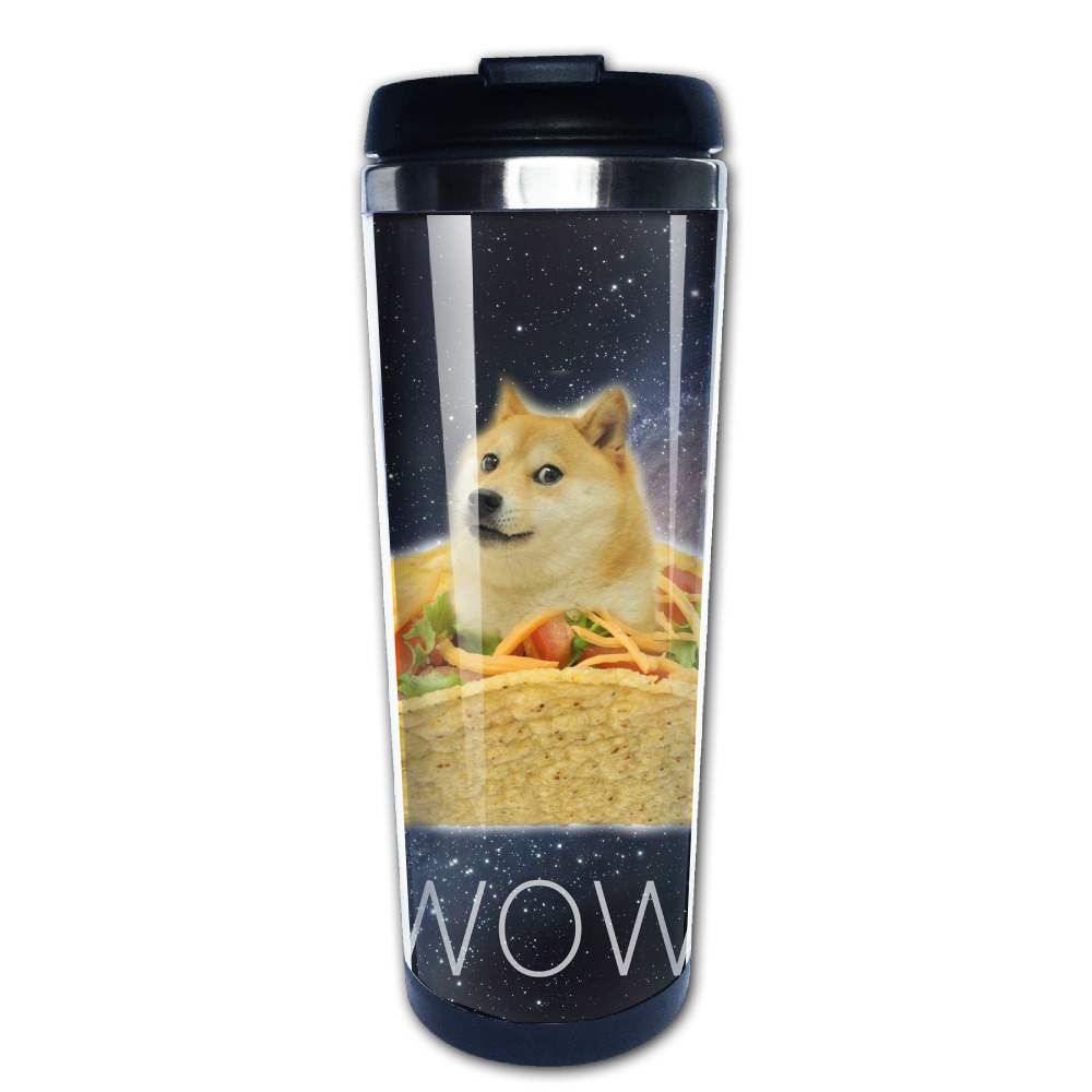 Space Doge coffee mug gift children tazas stainless steel tumbler caneca tea Cups